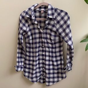 Free People button down studded plaid shirt 2